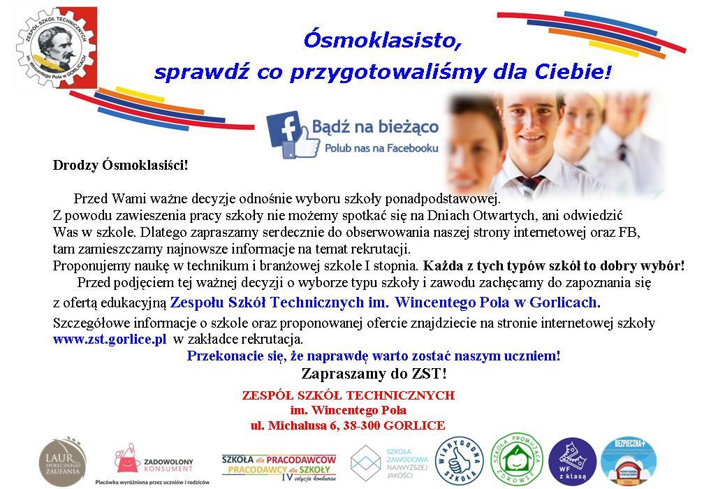 Oferta edukacyjna ZST