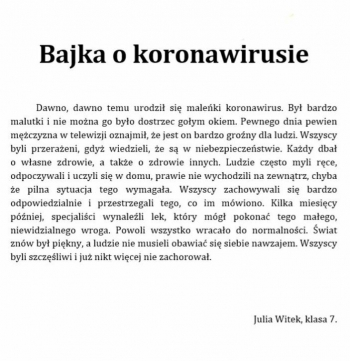 Bajka terapeutyczna- JULIA WITEK