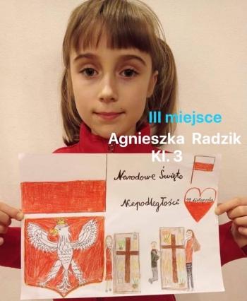 III miejsce - Agnieszka Radzik, kl. 3