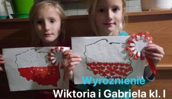 Wyróżnienie: Wiktoria i Gabriela Koperniak, kl. 1