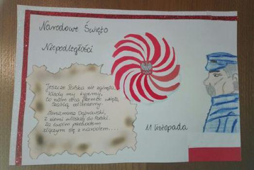 I miejsce - Magdalena Krok, kl 5.