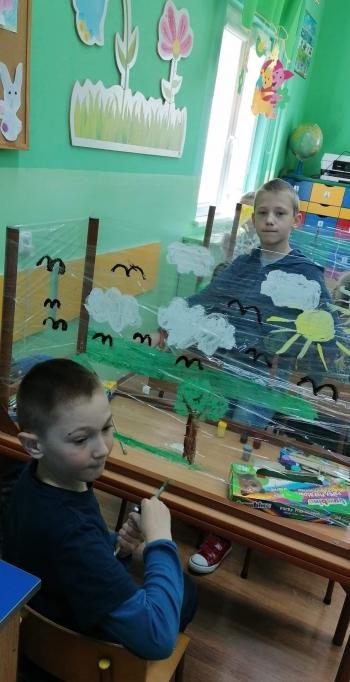 Malowanie na folii - kl. II (2)