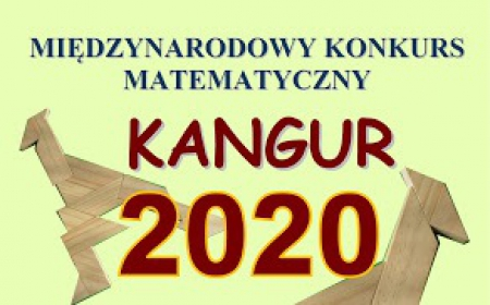 Konkurs Kangur Matematyczny 2020