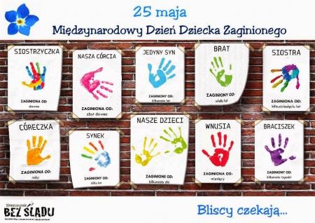 Międzynarodowy Dzień Dziecka Zaginionego - 25 maja...