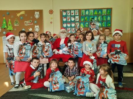 Wizyta Świętego Mikołaja w oddziale przedszkolnym...