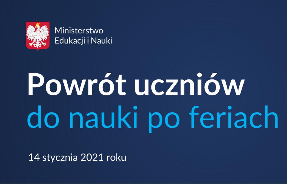 Organizacja pracy w Szkole od 18 stycznia 2021 r.