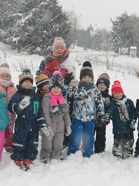 Mroźnie, wesoło, radośnie czyli zimowe zabawy na śniegu...