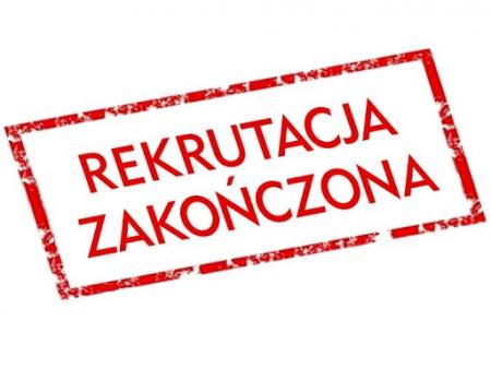 Rekrutacja na rok szkolny 2021/2022 zakończona!