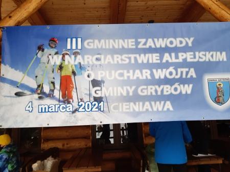 Zawody w Narciarstwie Alpejskim o '' Puchar Wójta Gminy Grybów''