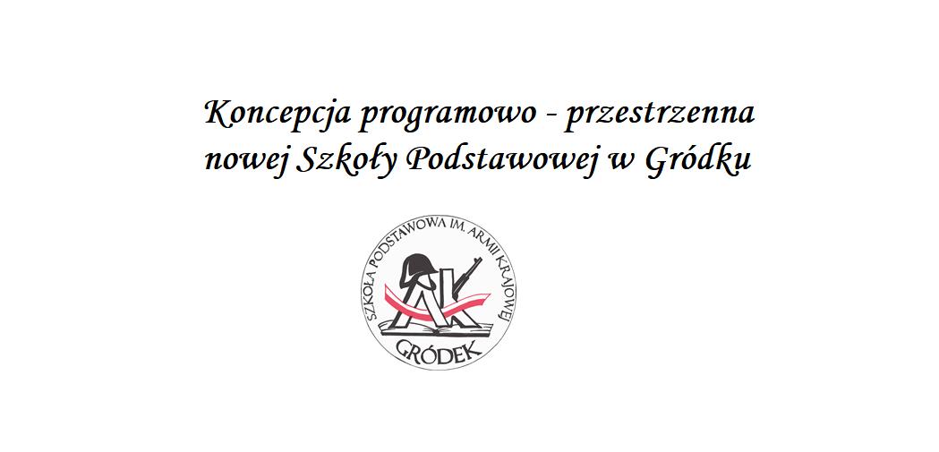 Koncepcja programowo - przestrzenna Szkoły w Gródku...
